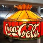 โคมไฟเพดาน stainglass coca-cola รหัส101256 cl