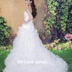 ชุดแต่งงานยาว ทรงA เจ้าสาวใส่แล้วดูผอมเพรียวมากค่ะ พร้อมส่ง Size S-L