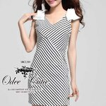Monocrome stripe dress