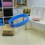 สายรัดข้อ Wristband ริสแบนด์ I Love Justin bieber สีฟ้า