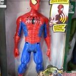 Superhero - Spiderman แขนขา ขยับได้ กดที่อกมีไฟกับเสียง สูงประมาณ 12 นิ้ว งานสวยนะคะ
