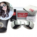 RB 3025 AVIATOR LARGE METAL W3277 58-14 3N <ปรอทเงิน>