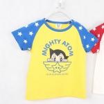 เสื้อเด็กCISI แขนสั้น สีเหลืองแขนฟ้าขนาด 90-130