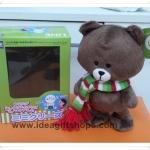 ตุ๊กตาไลน์ หมีบราวน์ Line Brown พูดตามเสียงและเดินได้ ชุดผ้าพันคอ น่ารักมากๆค่ะ