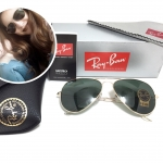 RB 3025 AVIATOR LARGE METAL L0205 58-14 3N