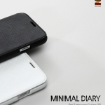 ZENUS : Minimal Diary Saffiano Leather Cover Case for Samsung Galaxy S5, SV, G900