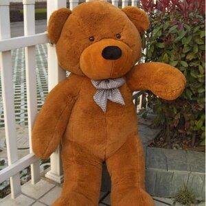 ตุ๊กตาหมีผูกโบว์สีน้ำตาลเข้ม ขนาด 1.2 m.