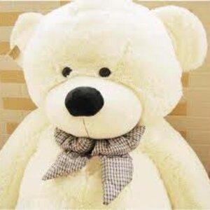ตุ๊กตาหมีผูกโบว์สีขาว ขนาด 1.2 m.