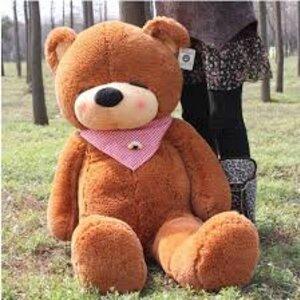 ตุ๊กตาหมีหลับ สีน้ำตาลเข้ม ขนาด 1.4 m.