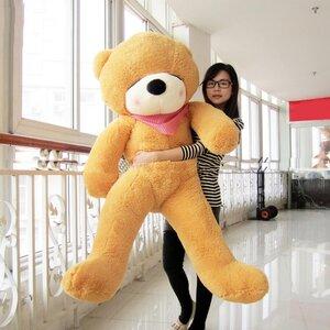 ตุ๊กตาหมีหลับสีน้ำตาลอ่อน ขนาด 1.6 m.