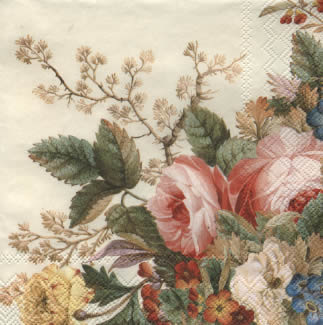 Vintage flower กระดาษแนปกิ้น เดคูพาจ 477060