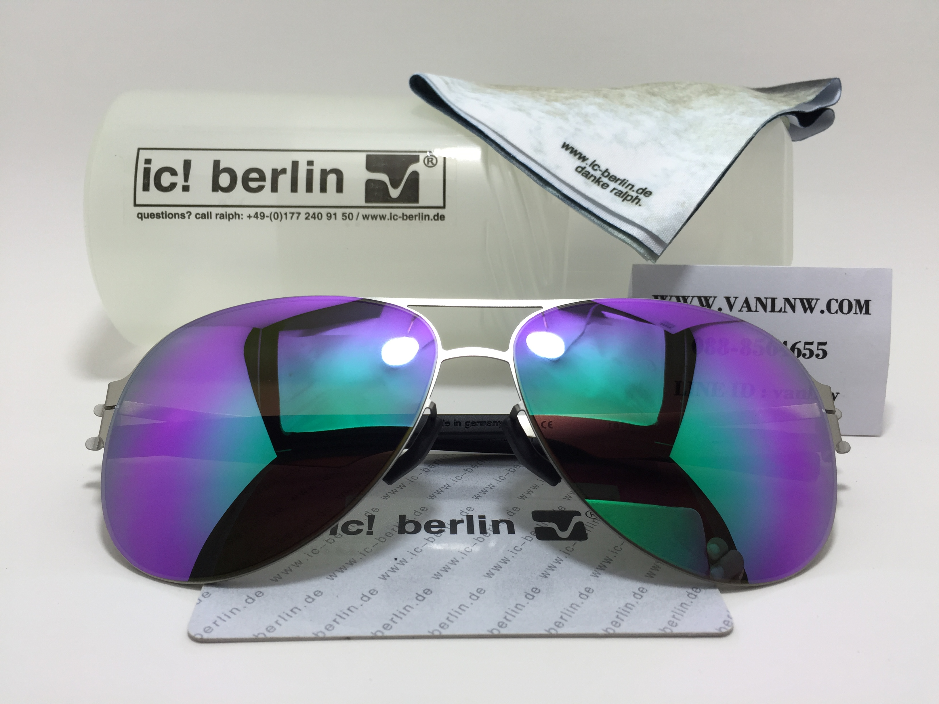แว่นกันแดด ic berlin raf s. pearl