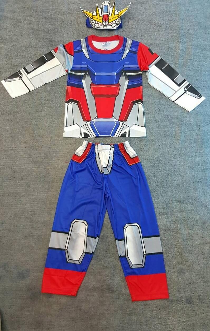 หีเด็ก ม.1 Gundam (งานลิขสิทธิ์) ชุดแฟนซีเด็กกันดั้ม ชุดมี 3 ชิ้น เสื้อ