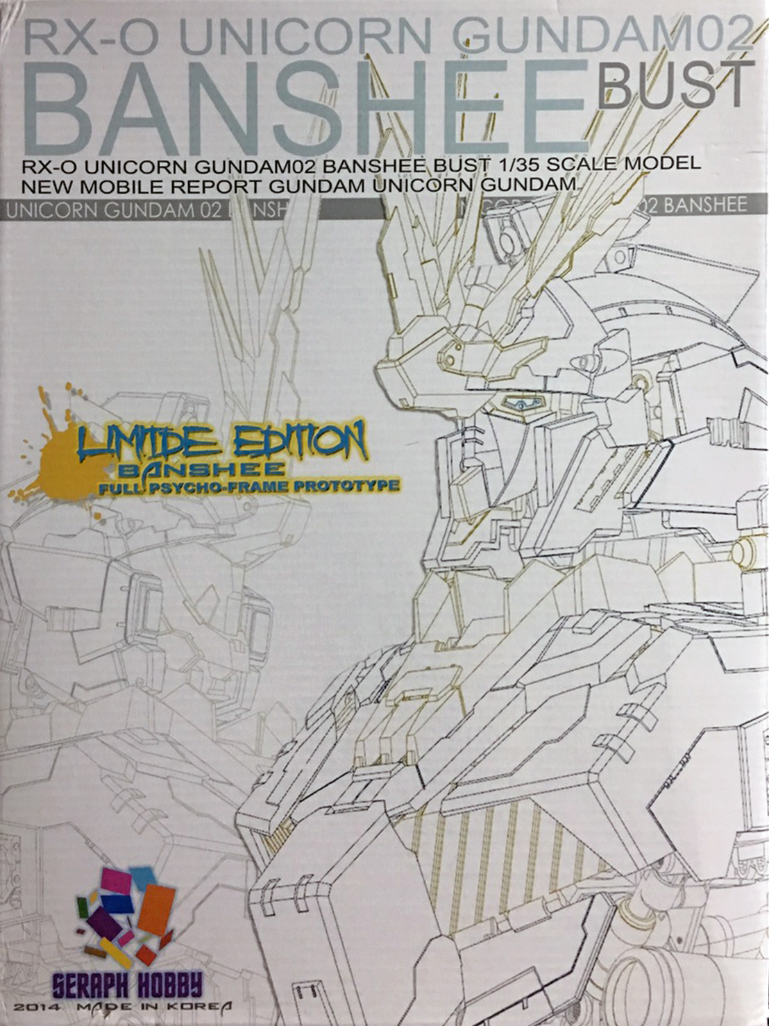 1/35 Display Head RX-O Unicorn Gundam Banshee Bust