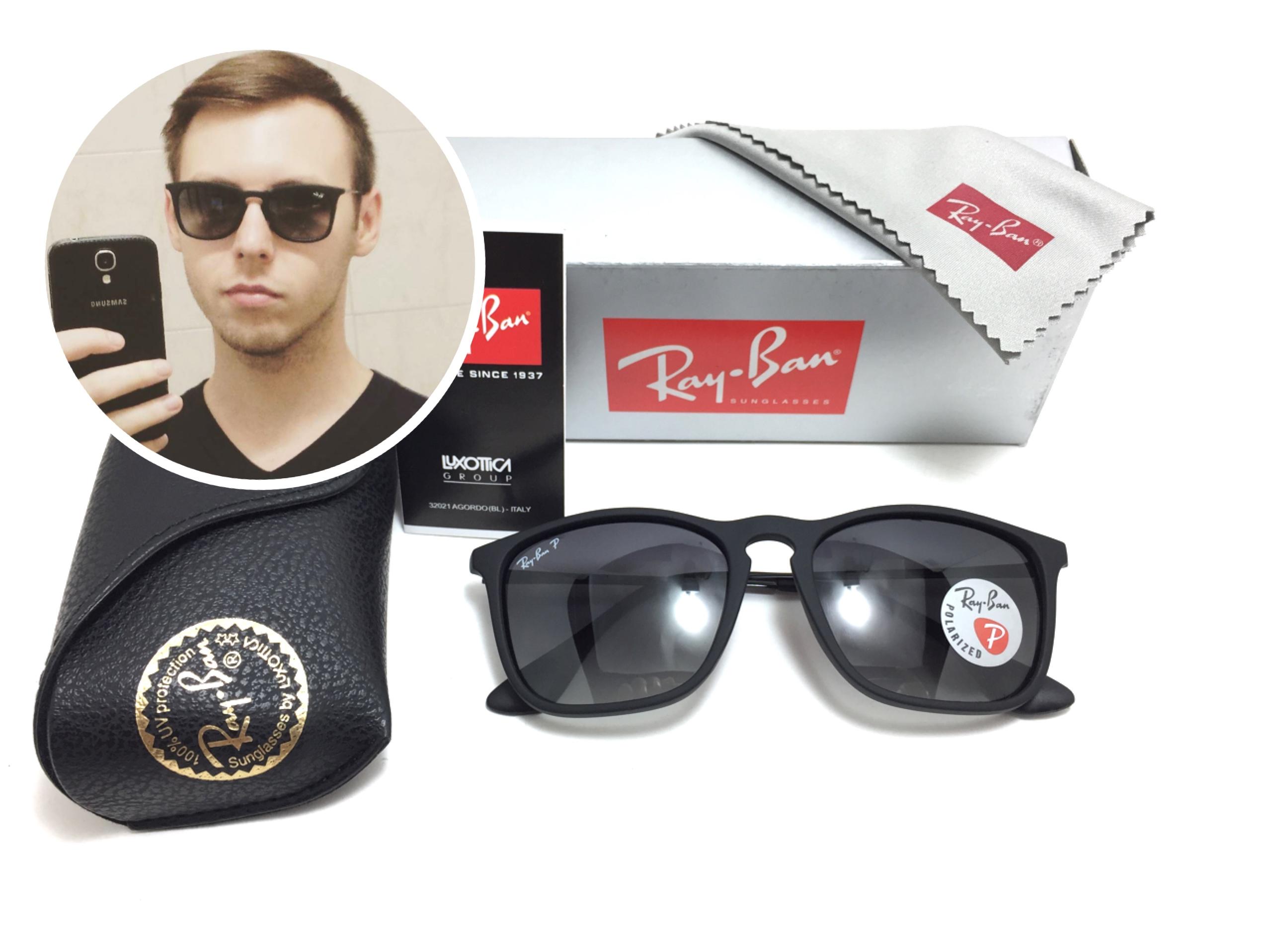 แว่นกันแดด RB 4187 Chirs 662/8G 54-18 3P < ดำ >