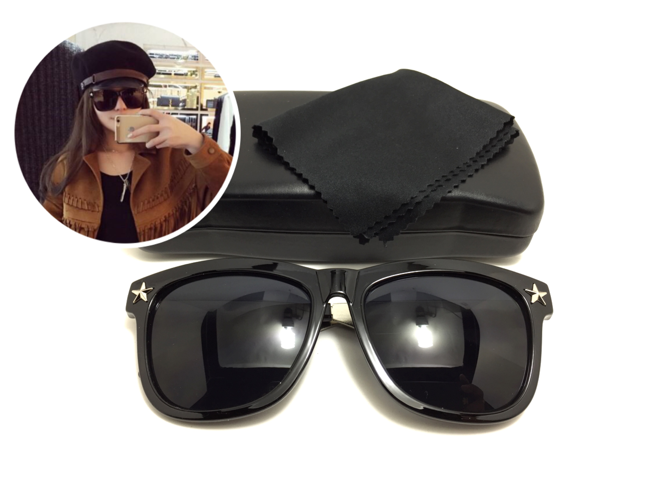 แว่นกันแดดแฟชั่น Black Sheet 77657 58-19 137 <ดำ>