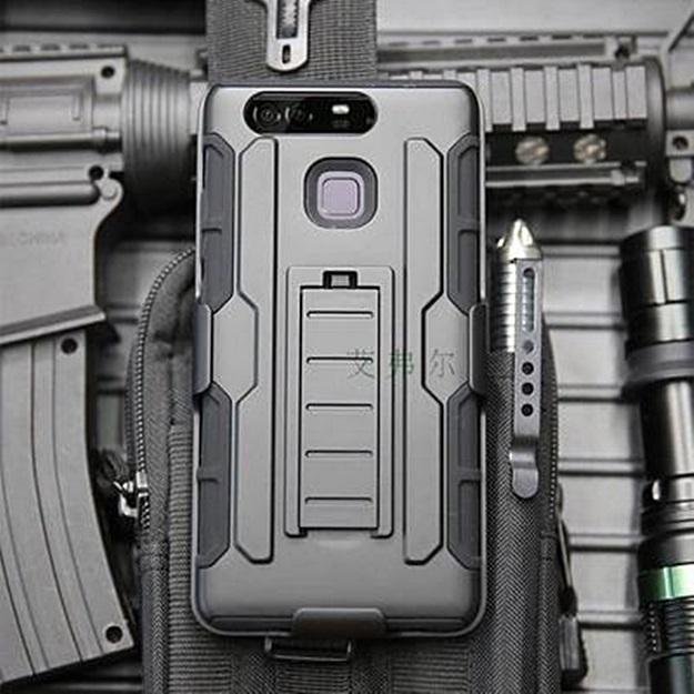 (002-152)เคสมือถือ Case Huawei P9 เคสสไตล์แอดเวนเจอร์กันกระแทกแบบพกพาเหน็บเอว