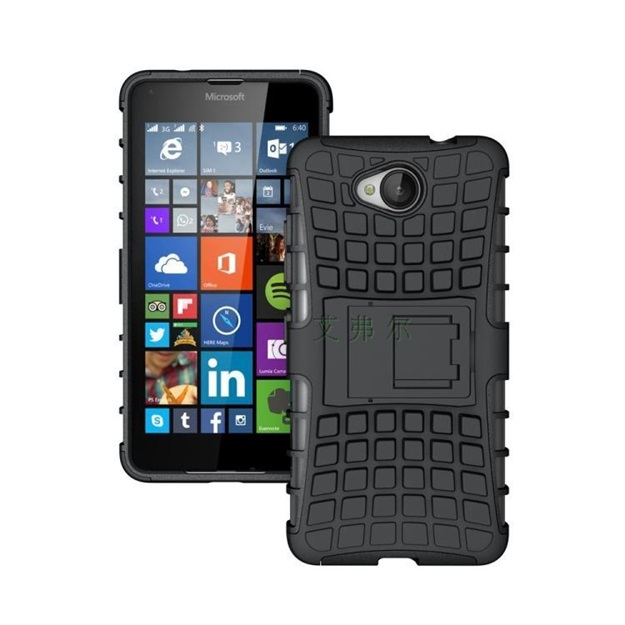 (002-120)เคสมือถือ Microsoft Lumia 650 เคสนิ่มกันกระแทกแบบประกบสองชิ้นสุดฮิตขอบสี