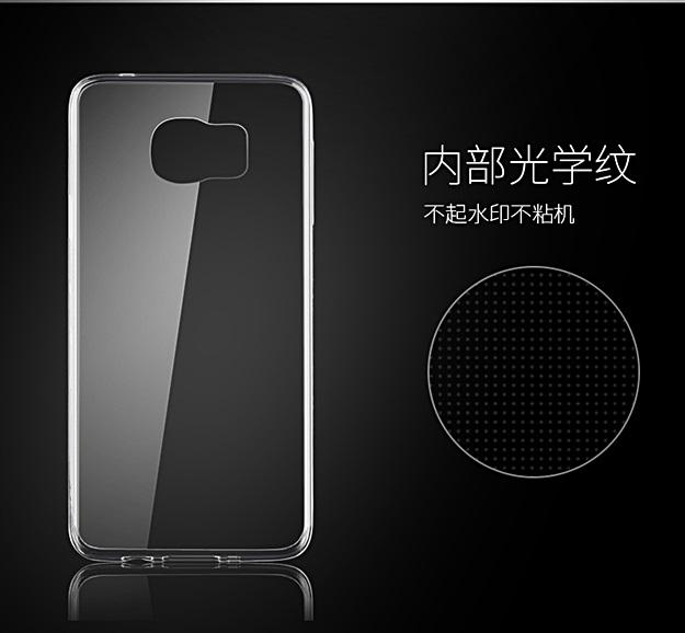 (พร้อมส่ง)เคสมือถือซัมซุง Case Samsung S6 Edge เคสนิ่มใสบางพื้นหลัง DOT กันรอยนิ้วมือ