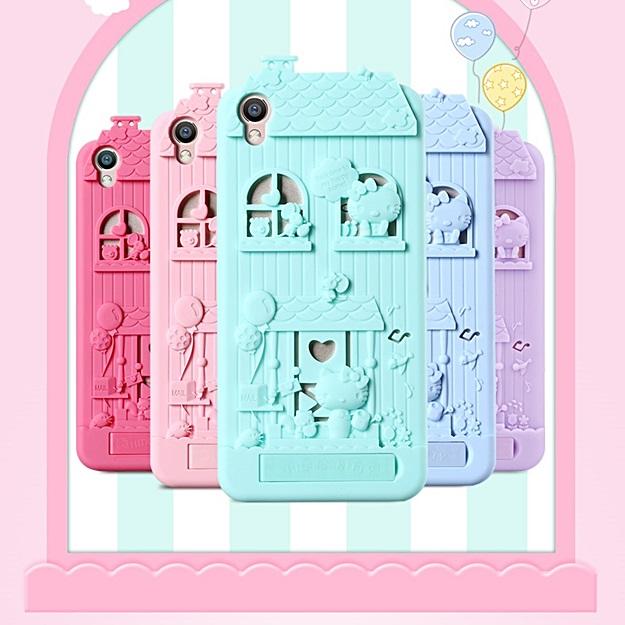 (499-002)เคสมือถือ Case OPPO R9 Plus เคสนิ่มบ้านคิตตี้ 3D แนวน่ารักๆ