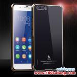 เคสมือถือ Case Huawei Honor 6 Plus เคสโลหะขอบทูโทนฝาหลังอะคริลิคผิวมันวาว แบบที่1