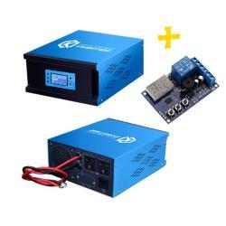 อินเวอร์เตอร์ Pure Sine Wave 1000W 24V to 220V CKS PT + Charger controller 20A (Ring Transfomer)