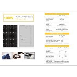แผงโซล่าเซลล์ 100W Mono Solarshop