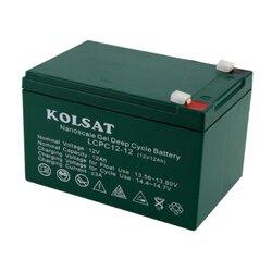 แบตเตอรี่ Deep Cycle Kolsat Nano GEL 12Ah 12V