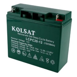 แบตเตอรี่ Deep Cycle Kolsat Nano GEL 24Ah 12V