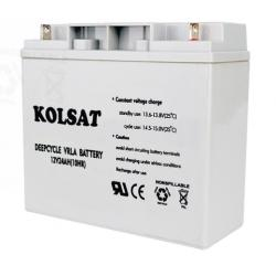 แบตเตอรี่แห้ง Deep Cycle Kolsat VRLA 24Ah 12V