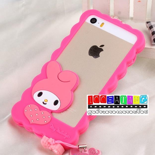 (พร้อมส่ง)เคสมือถือไอโฟน case iphone 5/5s บัมเปอร์กระต่าย Melody คิตตี้