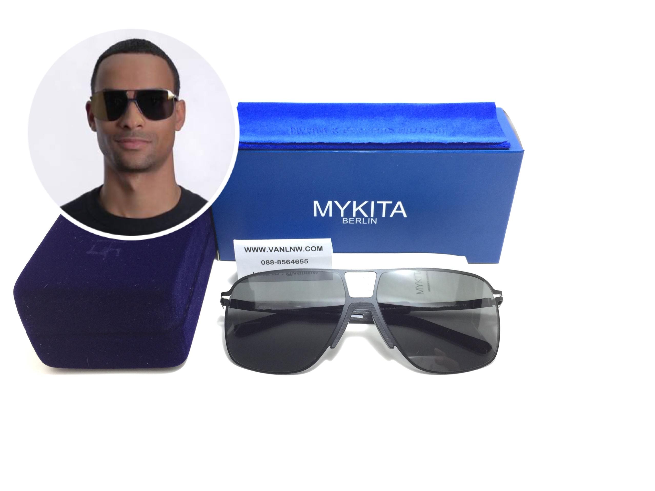 แว่นกันแดด MYKITA OAK MH1-Black/Pitch Black <ดำ>