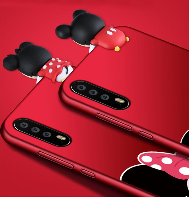 (388-117)เคสโทรศัพท์มือถือหัวเว่ย Case Huawei P20 Pro เคสนิ่มการ์ตูนหัวเกาะลายมิกกี้เม้าส์กระต่าย