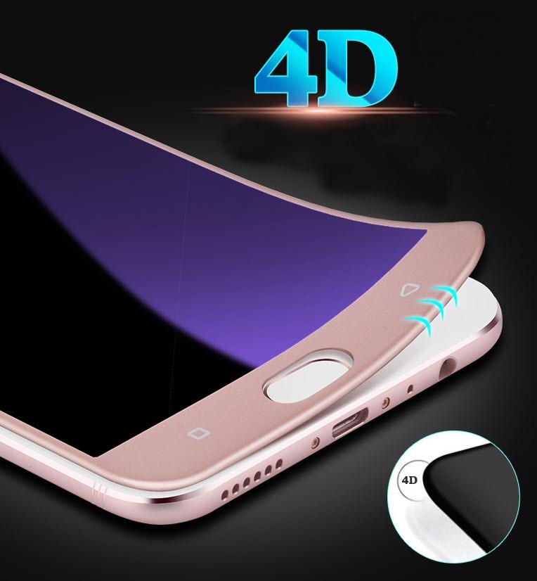 (619-003)ฟิล์มกระจก Vivo X9/X9S กระจกนิรภัย 4D สไตล์ 9H กันรอยขูดขีดกันน้ำกันรอยนิ้วมือ