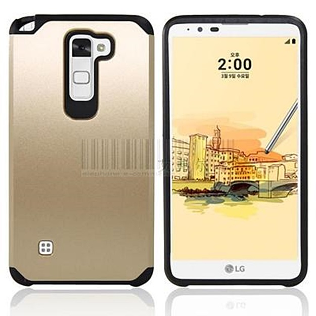 (002-174)เคสมือถือ Case LG Stylus 2 เคสนิ่ม+พื้นหลังประกบแบบพลาสติกสองชั้น