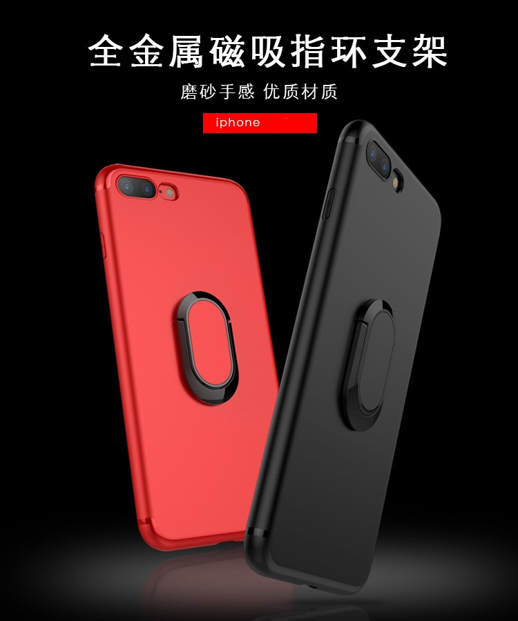 (025-606)เคสมือถือไอโฟน Case iPhone 6Plus/6S Plus เคสนิ่มซิลิโคนแฟชั่นแหวนมือถือยึดติดกับแม่เหล็กได้ หมุนได้ 360 ํ