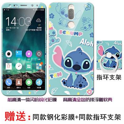 (025-873)เคสมือถือ Case Huawei Nova 2i/Mate10Lite เคสนิ่มลายการ์ตูนหลากหลายพร้อมฟิล์มหน้าจอและแหวนมือถือลายการ์ตูนเดียวกัน