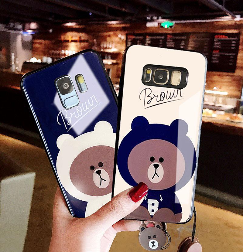 (762-002)เคสโทรศัพท์มือถือซัมซุง Case Samsung S8 เคสนิ่มหมีบราวน์