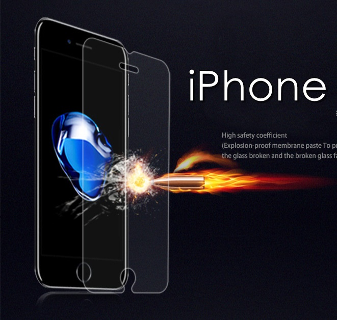 (436-440)ฟิล์มกระจก iPhone7/8 นิรภัยเมมเบรนกันรอยขูดขีดกันน้ำกันรอยนิ้วมือ 9H