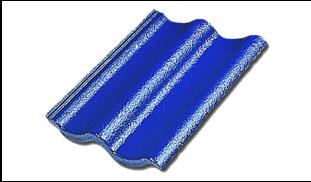 กระเบื้องคอนกรีตแม็กม่า สีน้ำเงินบาดาล