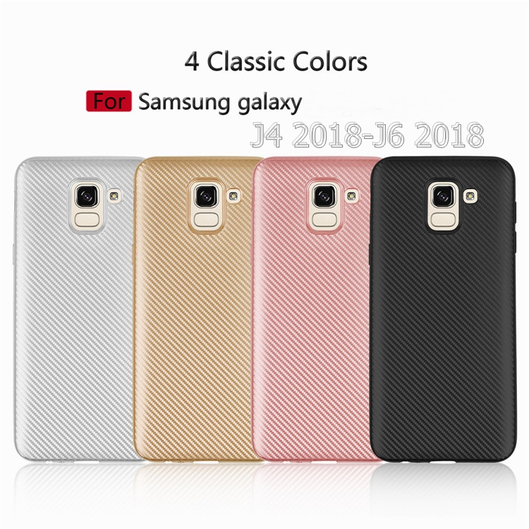 (436-488)เคสโทรศัพท์มือถือซัมซุง Case J6 2018 เคสนิ่มลายคาร์บอนไฟเบอร์