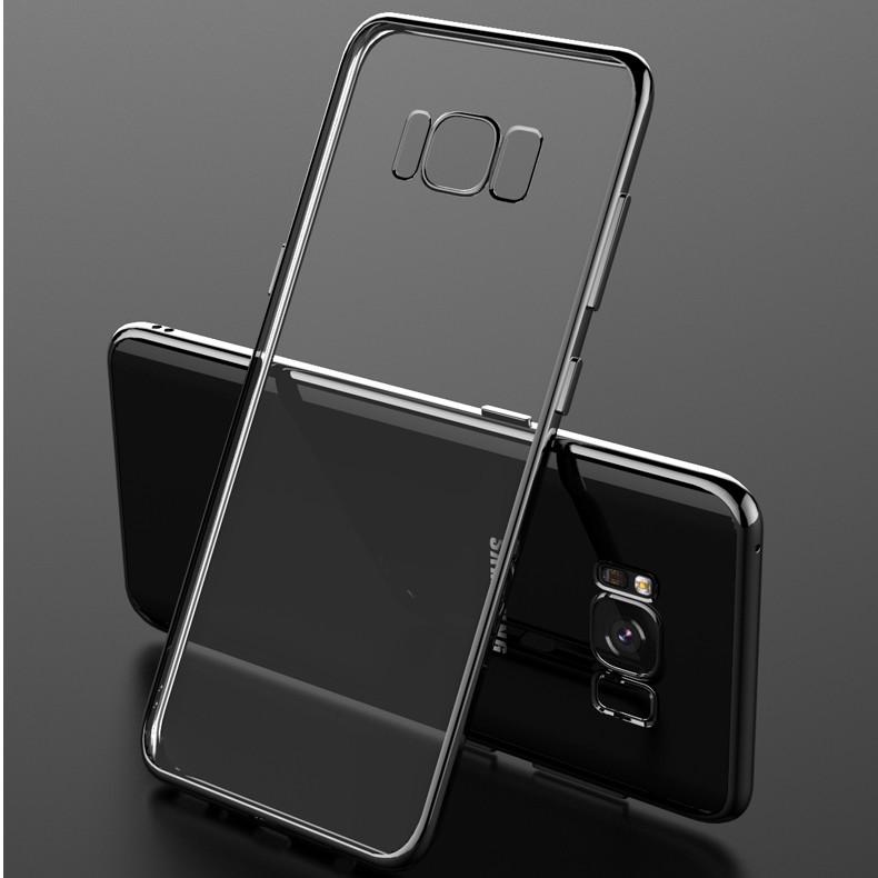 (025-1142)เคสมือถือ Case Samsung S8 Plus/ S8+ เคสนิ่มใส tpu เรียบหรูขอบแวว