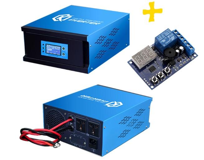 อินเวอร์เตอร์ Pure Sine Wave 500W 12V to 220V CKS PT + Charger controller 20A (Ring Transfomer)