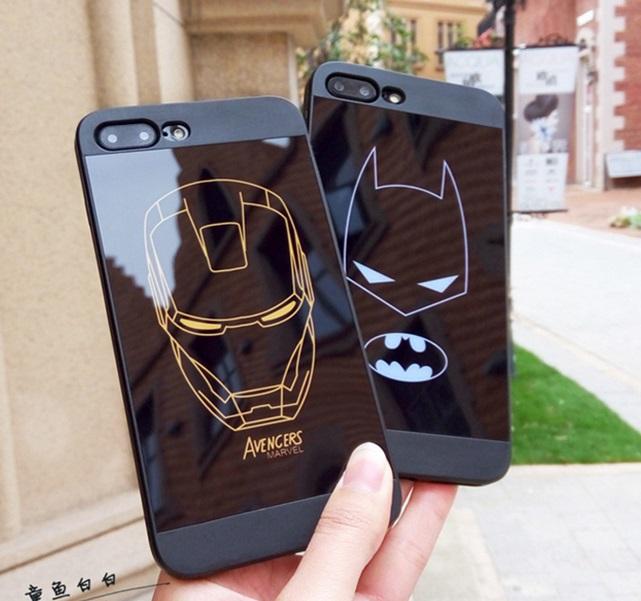 (633-003)เคสมือถือไอโฟน Case iPhone7 Plus/iPhone8 Plus เคสนิ่ม IronMan Batman