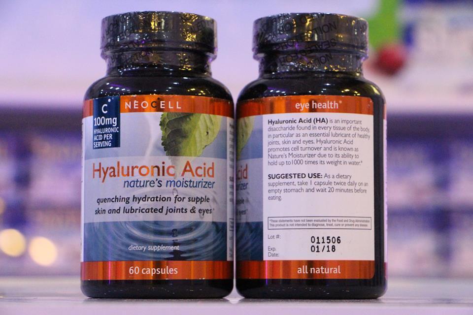 Neocell Hyaluronic Acid 100mg 60 Capsules วิตามินจากอเมริกา