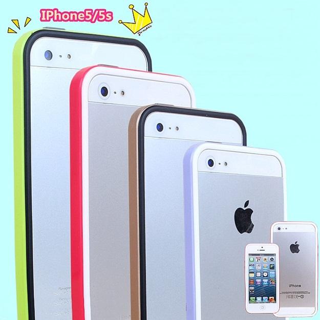 (423-013)เคสมือถือไอโฟน case iphone 5/5s เคสบัมเปอร์ทูโทนประกบสองชิ้น