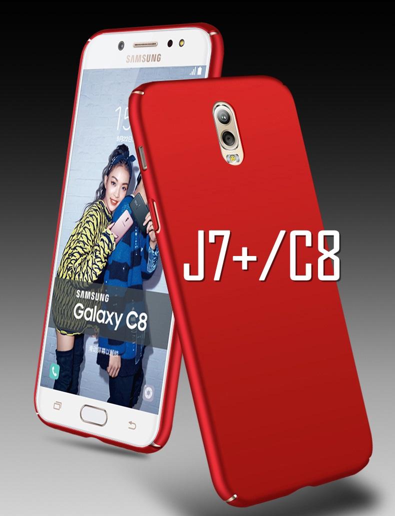 (635-001)เคสมือถือซัมซุง Case Samsung J7+/Plus/C8 เคสพลาสติกแฟชั่นยอดฮิต