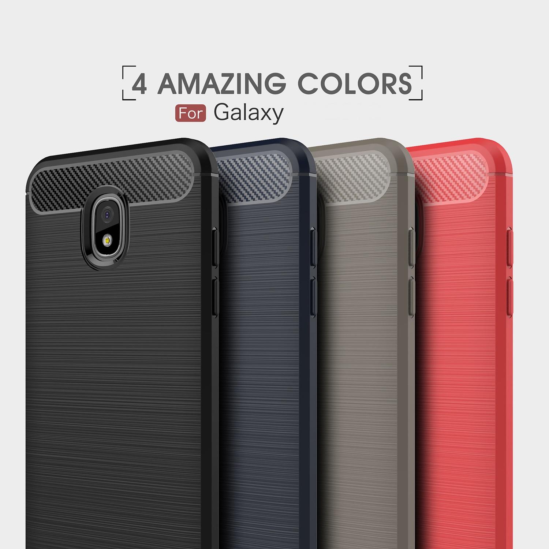 (436-492)เคสโทรศัพท์มือถือซัมซุง Case J7 2018 เคสนิ่มลายขนแปรงอลูมิเนียม