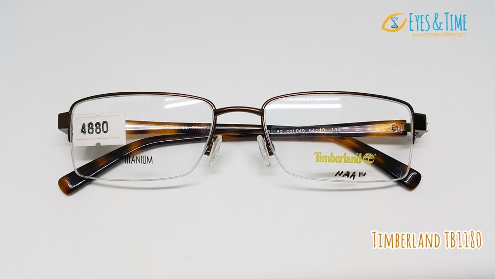 กรอบแว่นตา Timberland วัสดุ Titanium รุ่น TB1180 ทรงเหลี่ยม เซาะร่อง