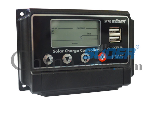 (Suoer) โซล่า ชาร์จเจอร์ Solar Charger 10A 12V 24V Auto switch รุ่น ST-W1210